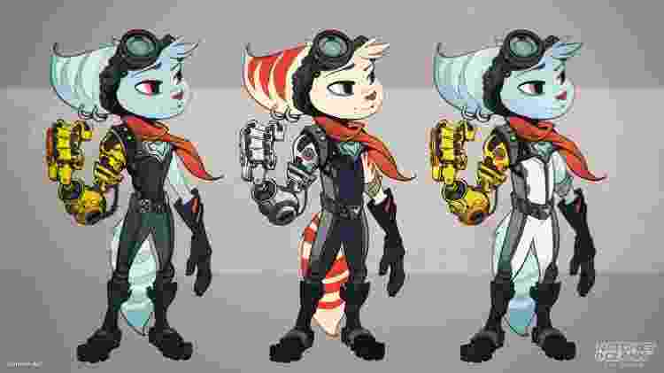 Artes conceituais de personagem de Ratchet and Clank, novo game exclusivo de PS5 - Divulgação/Sony - Divulgação/Sony