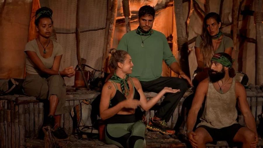No Limite: Jéssica e Kaysar discutem no portal da eliminação - Reprodução/Rede Globo