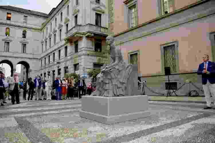 A escultura da escritora Cristina Trivulzio di Belgiojoso (1808-1871) - Divulgação/Prefeitura de Milão - Divulgação/Prefeitura de Milão