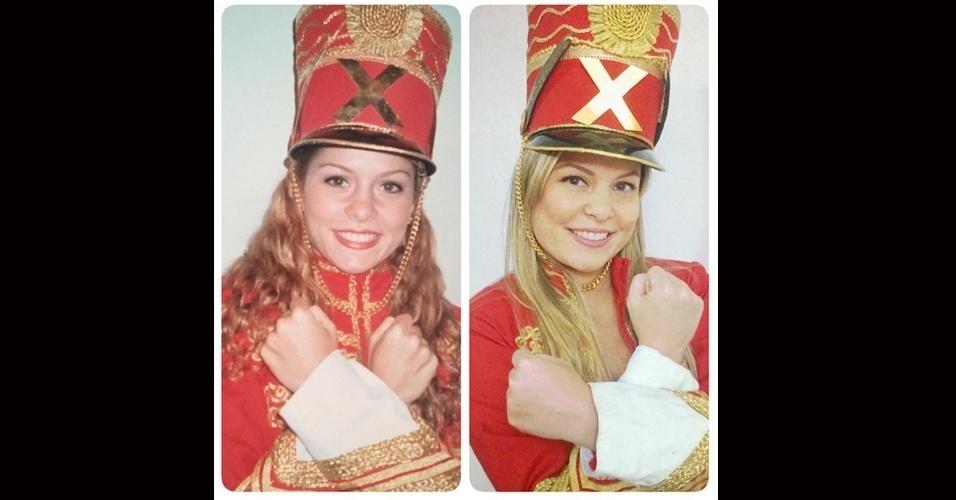 23.jul.2015 - Bárbara Borges relembrou seus tempos como Paquita da apresentada Xuxa em um post publicado nesta quinta-feira, no Instagram. A atriz fez uma montagem com uma foto sua antes e outra de agora, ambas vestidas com seu antigo uniforme.