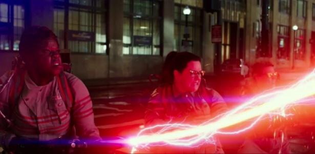 """Cena do trailer de """"As Caça-Fantasmas"""", que vai estrear nos cinemas em julho - Reprodução"""