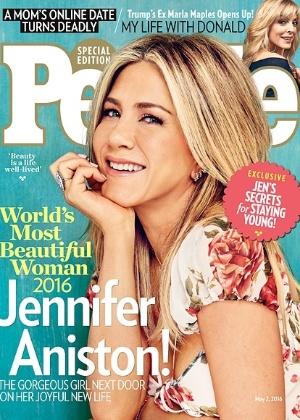 """Aos 47 anos, Jennifer Aniston foi eleita pela """"People"""" como a mulher mais bonita de 2016 - Divulgação"""