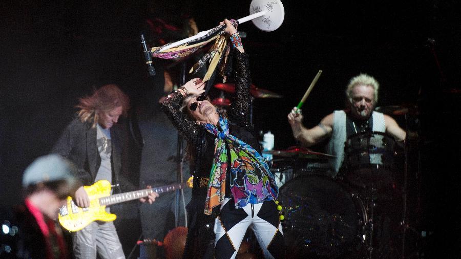 Aerosmith se apresenta em São Paulo em outubro do ano passado - Reinaldo Canato/UOL