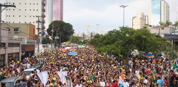 Bloco Confraria do Pasmado na Vila Madalena, zona oeste de São Paulo