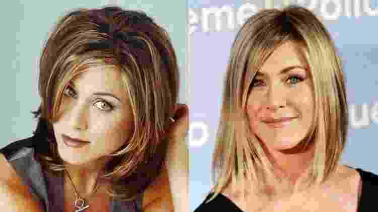 """Jennifer Aniston com o """"The Rachel"""" e com o """"bob"""" - Reprodução - Reprodução"""