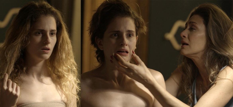 Joyce fica desesperada ao ver Ìvana com o cabelo cortado - Reprodução/Globo