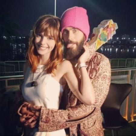 A apresentadora Titi Müller e o ator e cantor Jared Leto - Reprodução/Instagram/titimuller