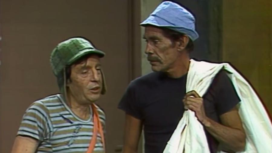 """Chaves e Seu Madruga no episódio """"O Velho do Saco"""" - Reprodução/SBT"""
