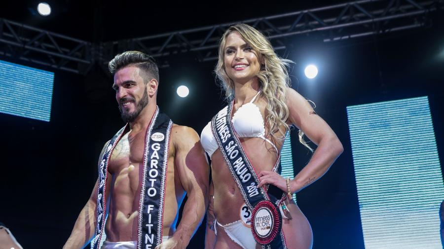 Os vencedores do concurso, Alexandre Gatti e Patrícia Richter. - Divulgação