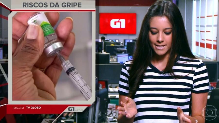 """Luiza Tenente é a nova apresentadora do """"G1 em 1 Minuto""""  - Reprodução/TV Globo"""