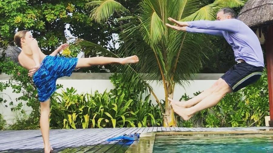 Luciano Huck em foto divertida com o filho, Joaquim - Reprodução/Instagram