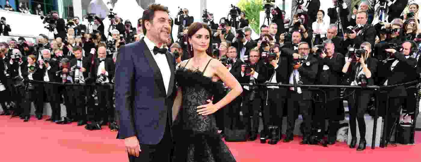 A atriz Penélope Cruz e o marido, o ator Javier Bardem participam da 71ª edição do festival de cinema de Cannes - AFP