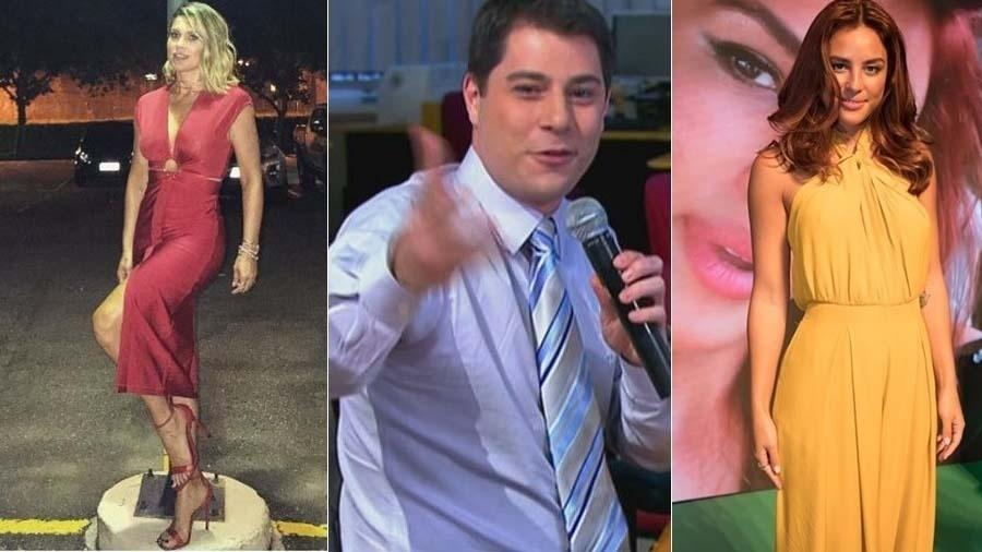 Flávia Alessandra, Evaristo Costa e Yanna Lavigne atenderam aos pedidos dos fãs - Montagem