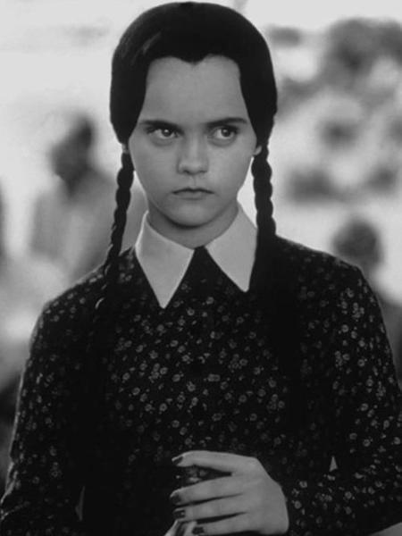 Christina Ricci como Vandinha em Família Adams - Reprodução