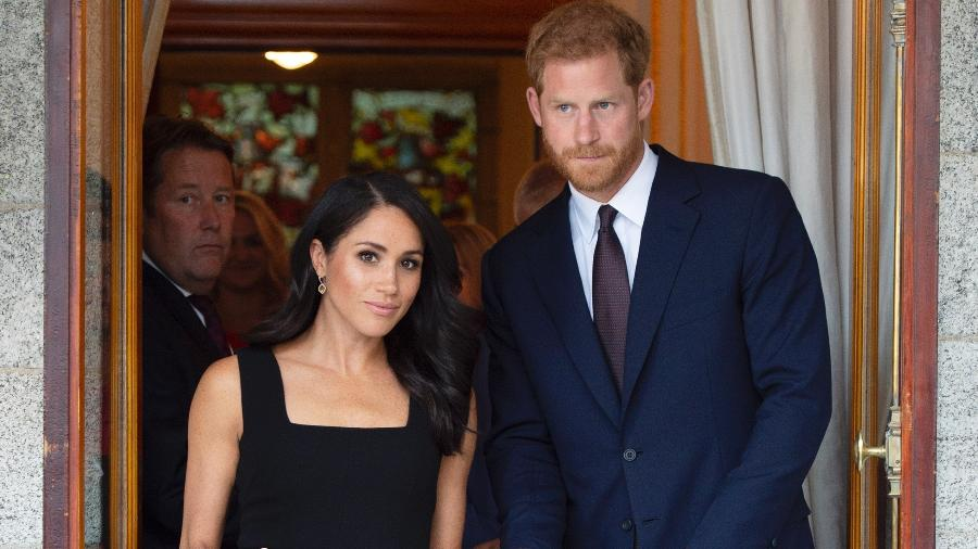 A duquesa de Sussex, Meghan, e o príncipe Harry - Getty Images