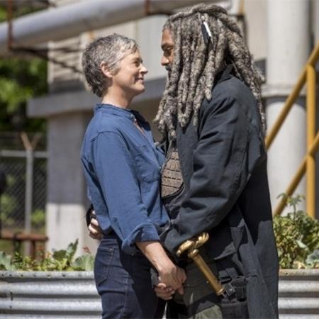 """Carol e Ezekiel vivem romance em novas fotos de """"The Walking Dead"""" - Divulgação"""