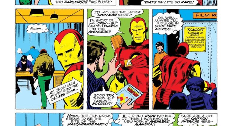 """Em """"Homem de Ferro #72"""", o herói vai para a Comic-Con  - Reprodução/CBR - Reprodução/CBR"""