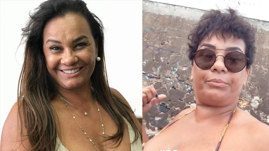 Solange Couto, antes e depois da mudança de visual - Reprodução/Instagram
