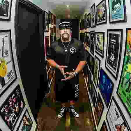 Mike Muir, do Suicidal Tendencies, que participou de show para convidados em homenagem a Chorão - Leandro Godoi/Divulgação
