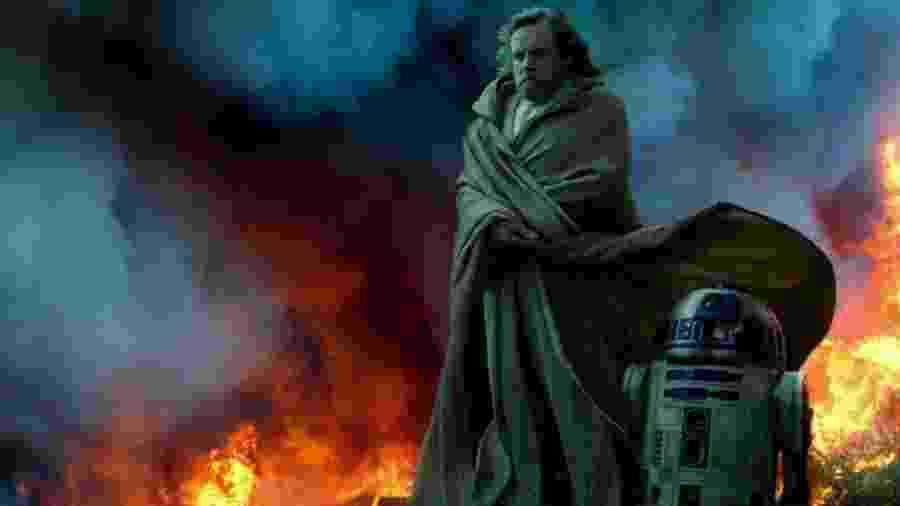 Luke Skywalker e R2-D2 em foto do novo Star Wars - Reprodução/Vanity Fair