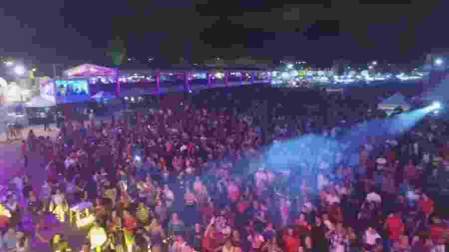 Público aglomerado na Expocrato 2016, no Ceará, durante um dos shows do evento - Reprodução YouTube