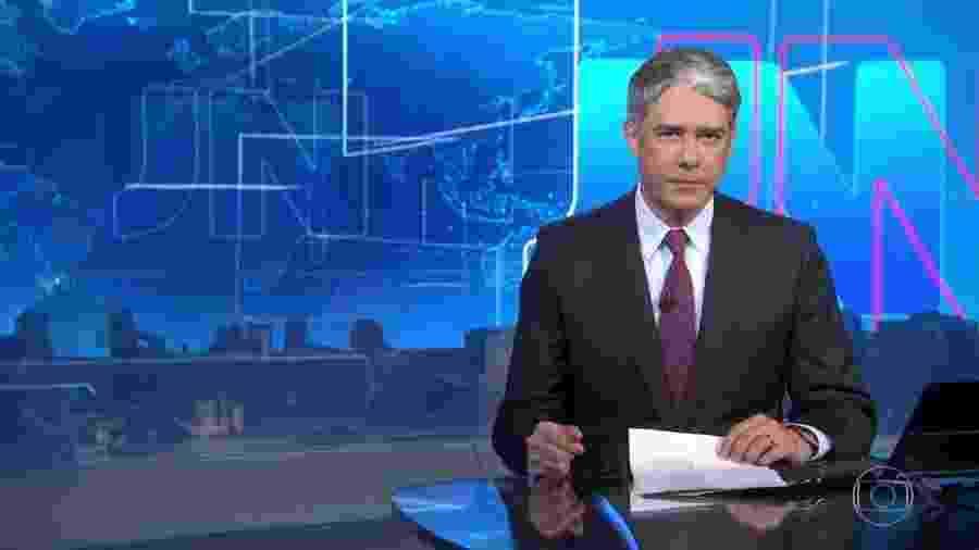 William Bonner na bancada do Jornal Nacional - Reprodução/TV Globo