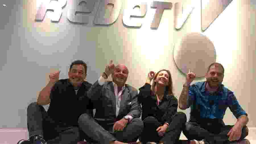Tatola Godas, Marcelo de Carvalho, Juliana Algañaraz (Endemol) e Dennys Motta  - Divulgação/REdeTV