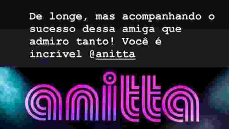Anitta Marina Ruy - Reprodução/Instagram - Reprodução/Instagram