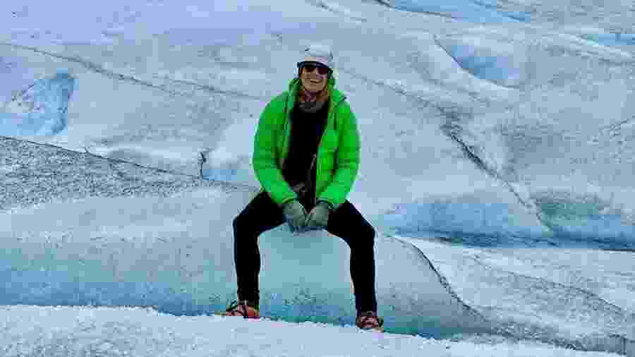 Reynaldo Gianecchini em passeio pelo glaciar Perito Moreno - Reprodução/Instagram