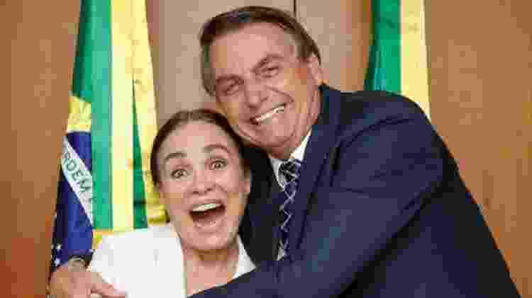 Bolsonaro diz que noivado com Regina Duarte continua - Reprodução/Twitter - Reprodução/Twitter