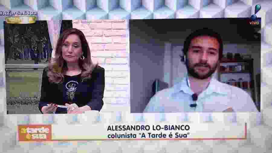 """Sônia Abrão e o fofoqueiro Alessandro Lo-Bianco, do """"A Tarde é Sua"""", da RedeTV - Reprodução/Youtube"""