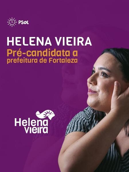 Helena Vieira anuncia pré-candidatura á prefeitura de Fortaleza (CE) - Reprodução/Facebook