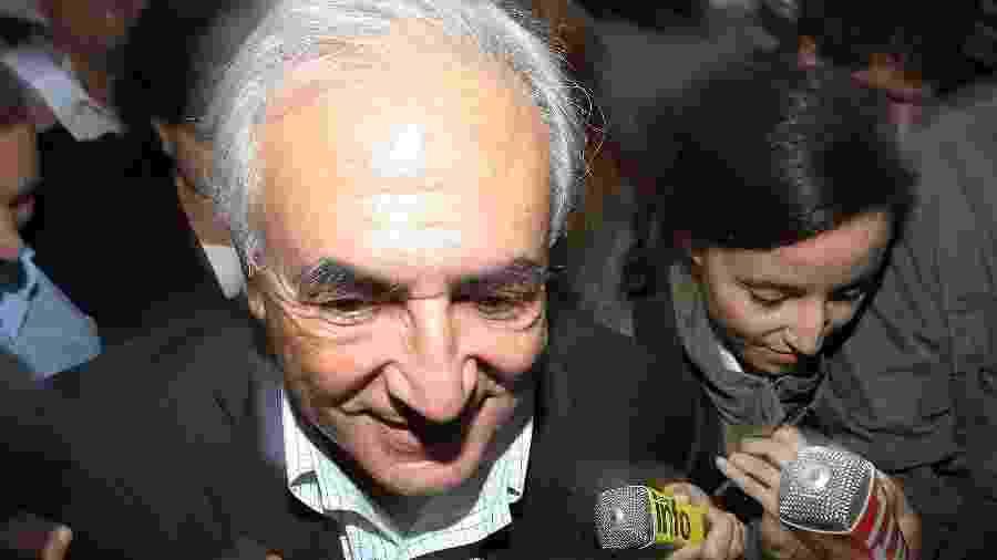 O ex-chefe do FMI Dominique Strauss-Kahn foi acusado de estupro por uma camareira de Nova York - Marc Piasecki/WireImage