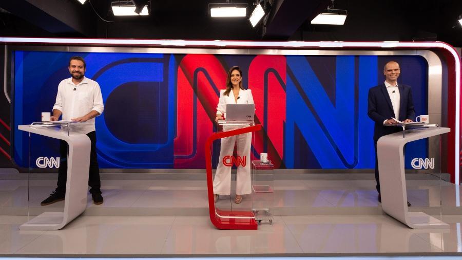 Monalisa Perrone mediou o primeiro debate do segundo turno entre os candidatos a prefeito de São Paulo - Divulgação