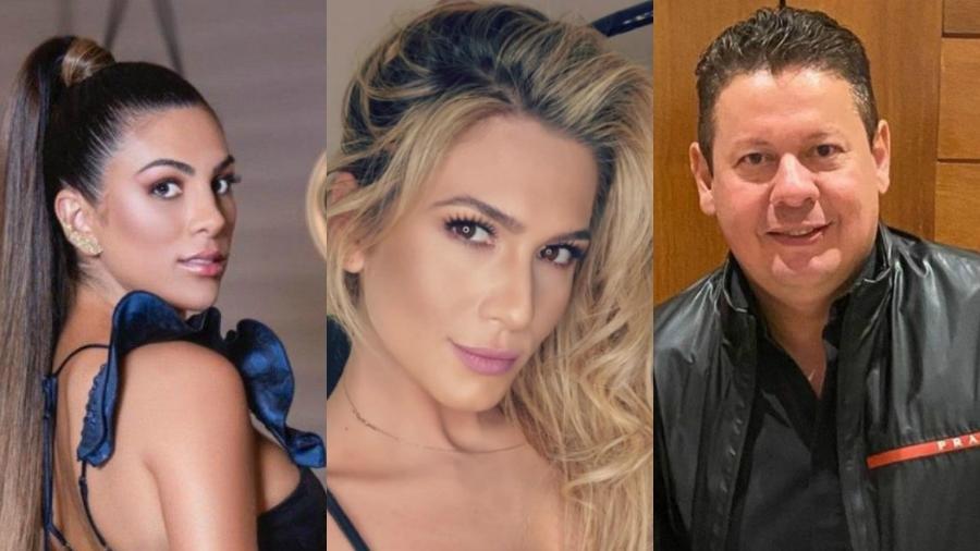 Pétala Barreiros, Lívia Andrade e Marcos Araújo - Reprodução Instagram