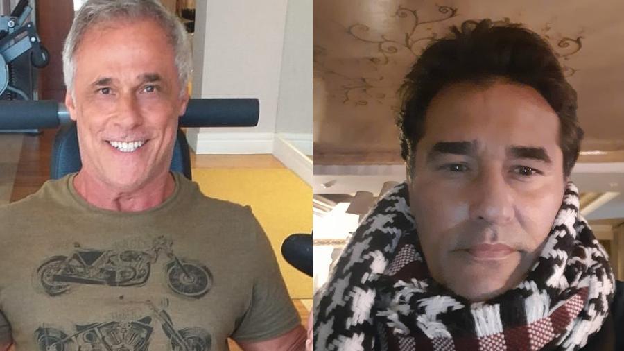Oscar Magrini e Luciano Szafir testam positivo para covid-19 - Imagem: Reprodução/Instagram@oscarmagrini @szafiroficial