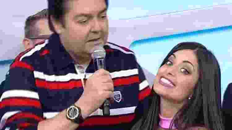 Aline Campos fez parte do 'Domingão do Faustão' e teve a despedida anunciada no ar pelo apresentador. - Reprodução/Instagram - Reprodução/Instagram
