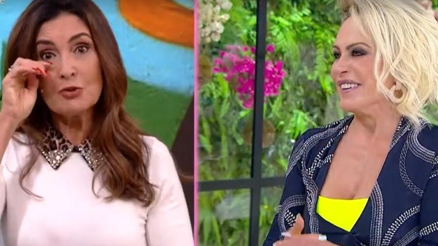 Fátima recebeu presente e ouviu elogios de Ana Maria Braga na véspera do aniversário - Reprodução/TV Globo