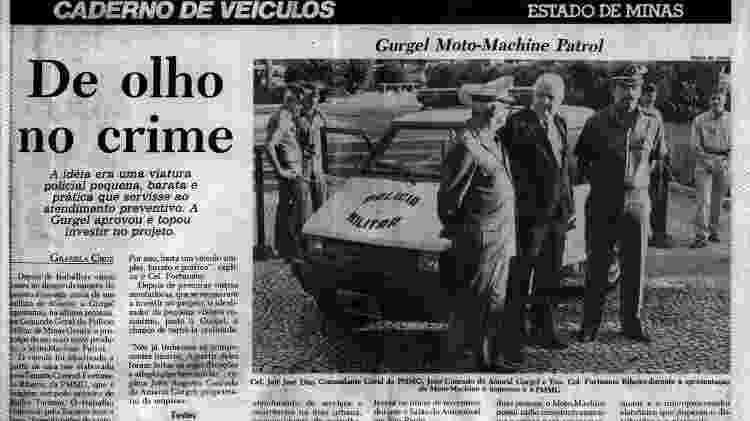 Reportagem da época mostra entrega do protótipo do Gurgel Patrol à Polícia Militar de Minas Gerais - Reprodução - Reprodução