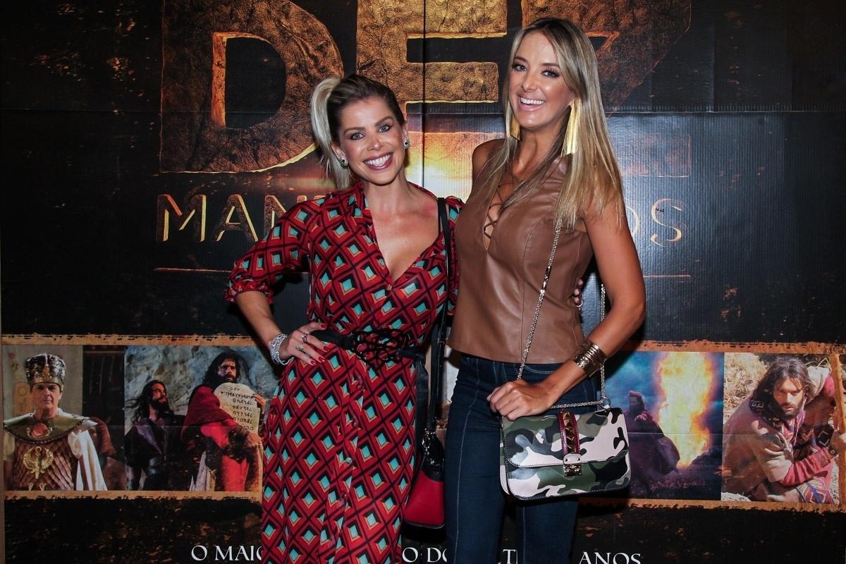 26.jan.2016 - As apresentadoras Karina Bacchi e Ticiane Pinheiro