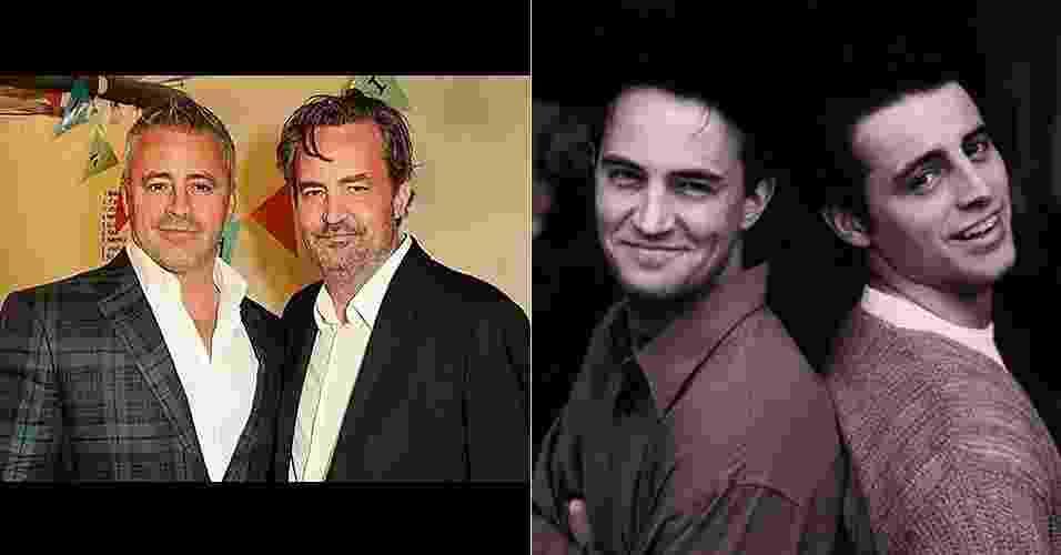 """2.mai.2016 - Matt LeBlanc e Matthew Perry, os eternos Joey e Chandler da série """"Friends"""", posam juntos em Londres - Reprodução/Instagram/mleblan"""