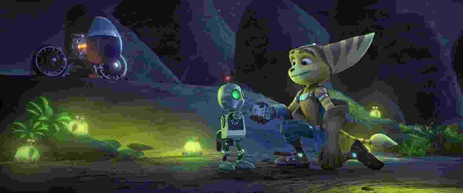 """Cena do filme """"Heróis da Galáxia: Ratchet e Clank"""" - Divulgação"""