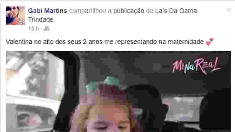 Fã se identifica com reação de Valentina - Reprodução/Facebook - Reprodução/Facebook