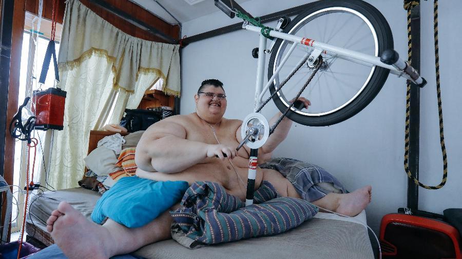 Juan Pedro Franco chegou a pesar 595 kg (foto); hoje, tem cerca de 208 kg - ULISES RUIZ