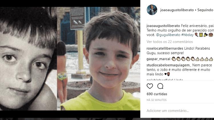 Gugu Liberato é homenageado pelo filho, João Augusto Liberato - Reprodução/Instagram - Reprodução/Instagram