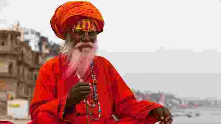 Os sadhus estão entre os personagens mais interessantes de Varanasi, na Índia - Getty Images/iStockphoto
