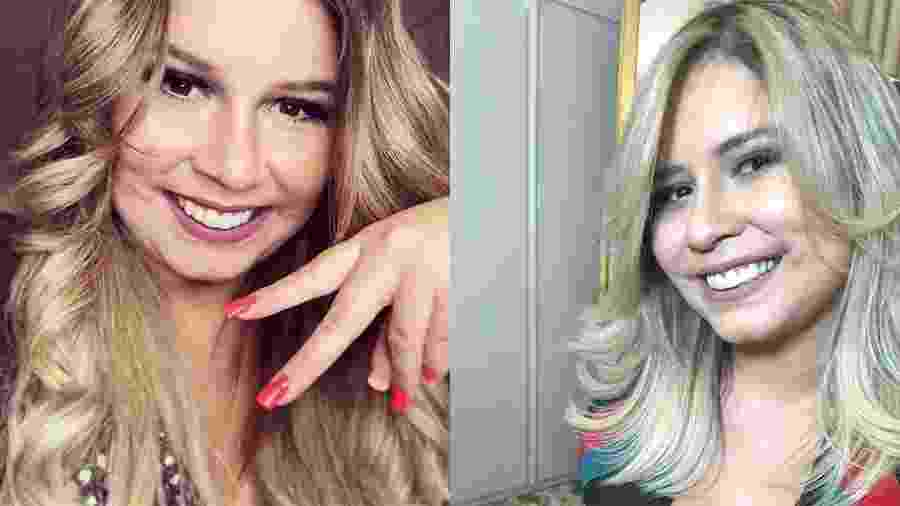Marília Mendonça antes e depois de mudar o visual - Reprodução/Instagram/mariliamendonçacantora