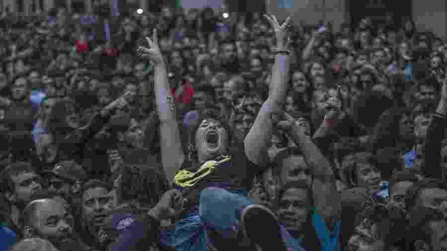 Público se diverte no show dos Ratos do Porão na Virada Cultural - Marlene Bergamo/FolhaPress