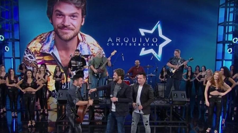 Emílio Dantas cantou com Bruno & Marrone os sucessos da dupla  - Reprodução/TV Globo