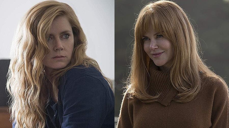 "Amy Adams, em ""Sharp Objects"", e Nicole Kidman, em ""Big Little Lies"" - Montagem/Divulgação"